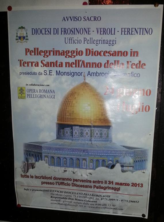 Avviso Sacro Diocesi di Frosinone
