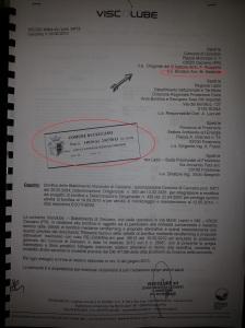 bonifica Viscolube - comunicazione 2 luglio 2013 comune di Ceccano