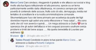commento Marco Corsi + tonino pizzuti